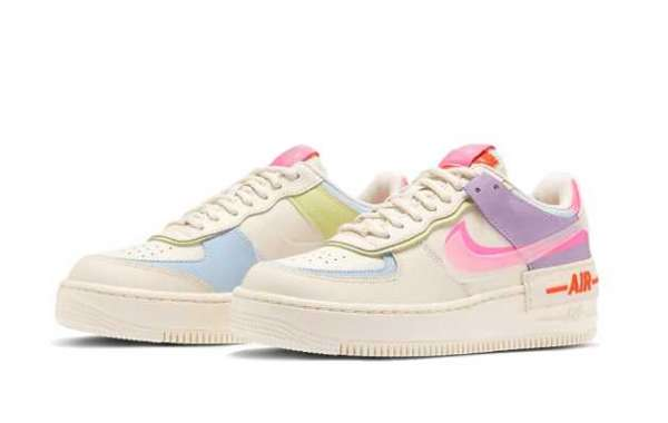 Hot Selling Nike Air Force 1 Shadow Beige Pale Ivory for Ladies